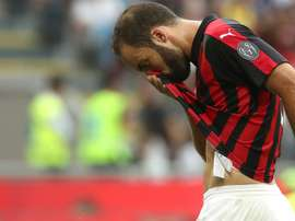 Higuain has been suffering from an injury of late. GOAL