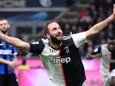 Inter-Juventus (1-2), Higuain offre le derby d'Italie à la Juve. AFP