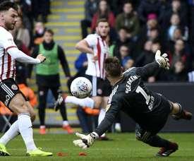 Scott Hogan put Sheffield United ahead against Ipswich. GOAL