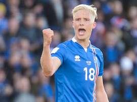 O internacional islandês: Magnusson. Goal
