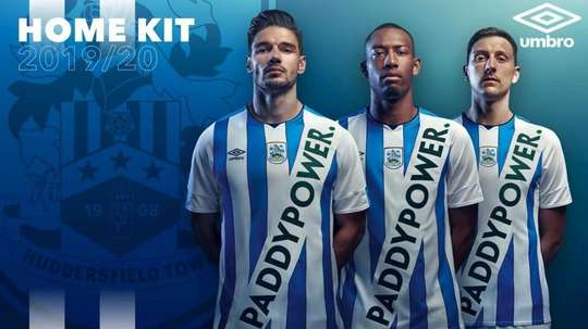 Huddersfield cause a stir with Paddy Power sash on 'new home kit'. GOAL