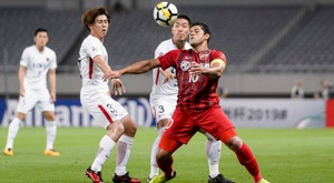 Hulk found the net for Shanghai against the Antlers. AFP