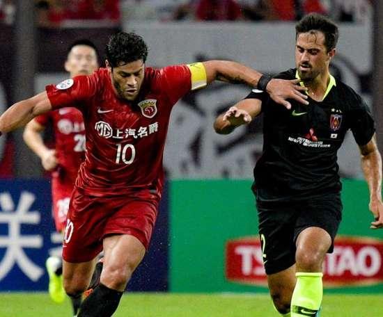 Hulk got a double for Shanghai SIPG in their AFC CL 1st leg tie. GOAL