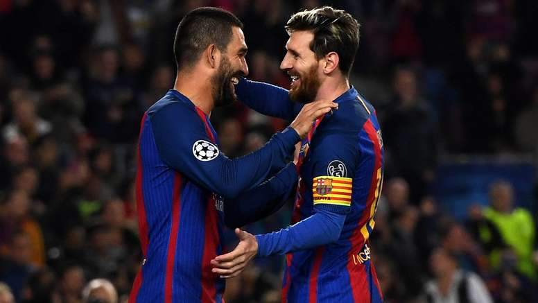 Arda Turan Lionel Messi Barcelona UCL 12072016
