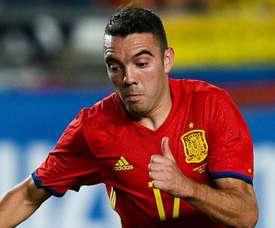 Aspas diz estar feliz em saber que interesse do Real e do Atlético de Madrid por ele diminuiu