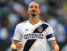 Ibrahimovic ended the game unhappy despite scoring a fantastic goal .GOAL