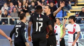 Ibrahimovic explains his rather muted celebration for Milan at Cagliari. GOAL