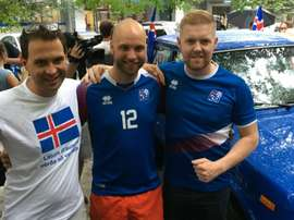 These Iceland fans made a daring trip. GOAL
