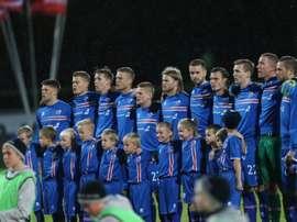 Les Islandais se sont inclinés 1-2. AFP
