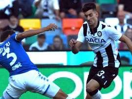 Udinese, Pussetto verso l'addio a gennaio: c'è il Watford. AFP