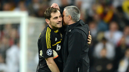 Iker Casillas Jose Mourinho Real Madrid 2012.