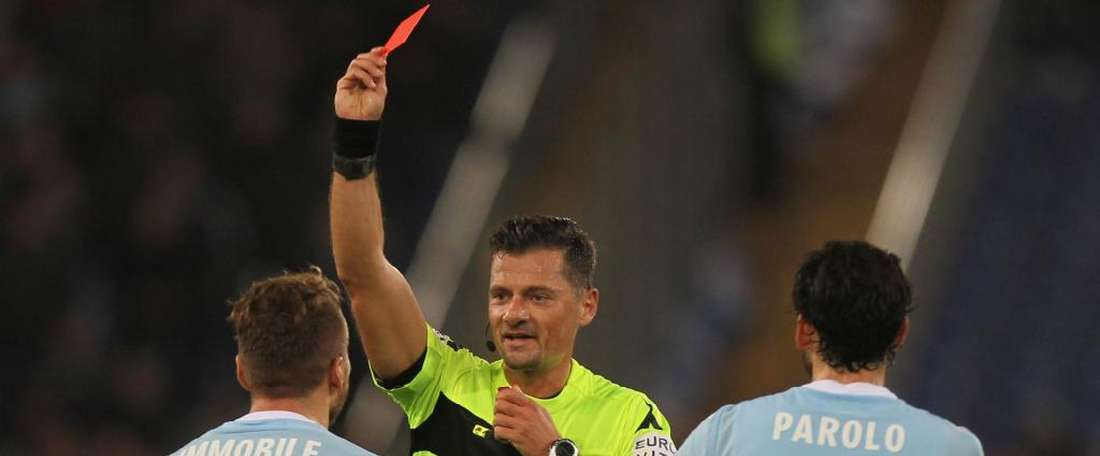 Ciro Immobile saw red as Lazio lost 3-1 at home to Torino. AFP