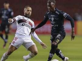 Derrota para o Del Valle é a maior goleada já sofrida pelo Flamengo na Libertadores. AFP