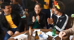 Mexicana comemora em reduto 'inimigo'.Goal