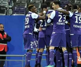 Issiaga Sylla dans le match du Toulouse - Montpellier. AFP