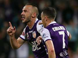 Franjic's goal meant Perth will finish first ahead of finals series. GOAL