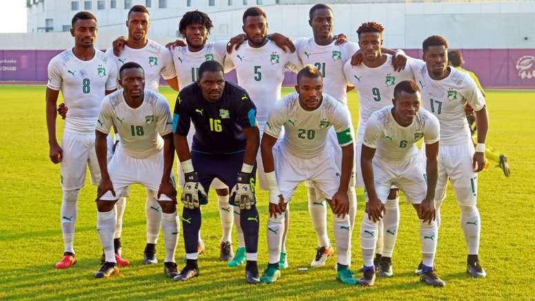 Ivory Coast pose for a pre-game photo. Goal