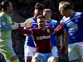 Jack Grealish was brutally floored by a pitch invader. GOAL