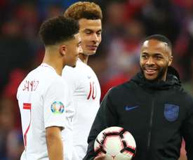 Sancho hails Sterling's mentoring influence with England.