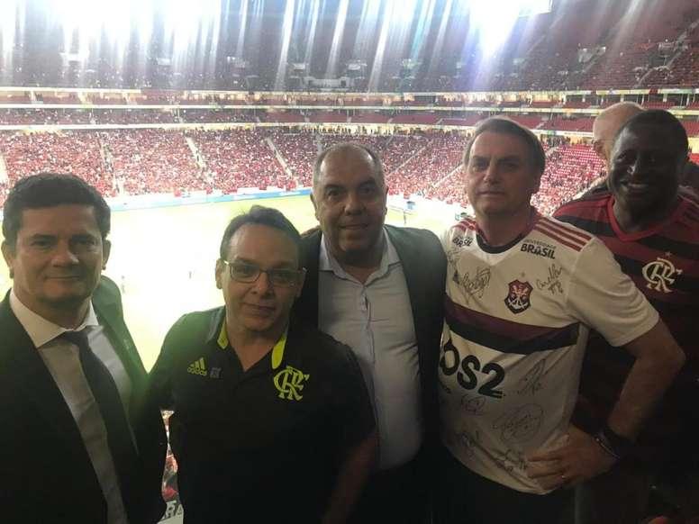 Bolsonaro e Moro expõem Fla entre 'institucional' e 'apolítico'. Goal