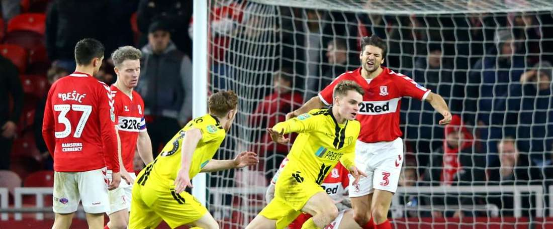 Burton pulled off another shock result to advance to the semi finals. GOAL