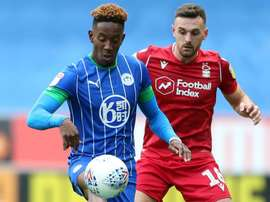 Lowe (L) claimed three crucial points for Wigan. GOAL