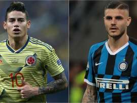 James and Icardi have been praised by Napoli boss Ancelotti. GOAL