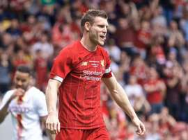 Milner scored twice in an easy win for Liverpool. GOAL