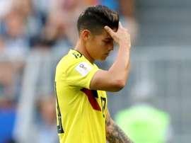 Pékerman: 'Estou muito preocupado com a lesão de James'.Goal