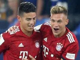 James Rodriguez Joshua Kimmich Bayern Munich 2018-19. Goal