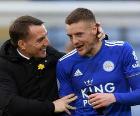 Rodgers was full of praise for Jamie Vardy. GOAL