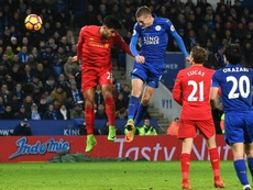 Vardy has a very good record against Liverpool. GOAL