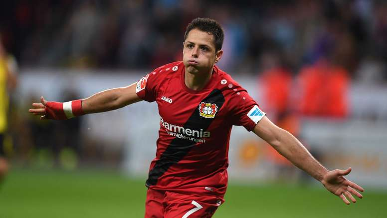 Javier Hernandez Bundesliga Bayer Leverkusen v Dortmund 011016