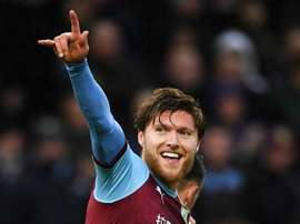 Hendrick's deflected cross has seen him credited with the goal. GOAL