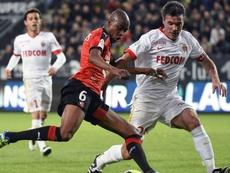 Jeremy Toulalan et Gelson Fernandes lors du match de Ligue 1 entre Rennes et Monaco. AFP