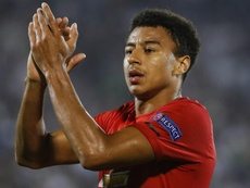Lingard is delighted to wear the captain's armband for United's trip to Astana. GOAL