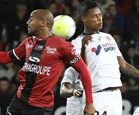 Jimmy Briand et Bonganu Zungu, Guingamp-Amiens, Ligue 1. GOAL
