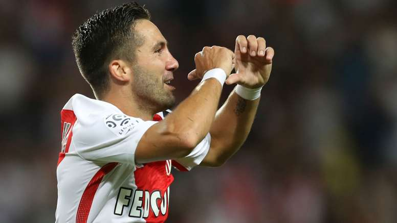 Moutinho celebrates a goal for Monaco. Goal