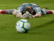 Keeper Joao Ricardo and his Chapecoense team were relegated from the Brasileirao this weekend. GOAL