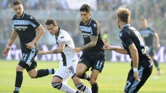 Joaquin Correa Ciro Immobile Luca Siligardi Parma Lazio Serie A. GOAL