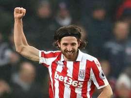 Joe Allen scored the winner for Stoke. Goal