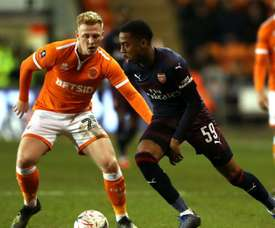Willock was denied his first senior hat trick with Arsenal. GOAL