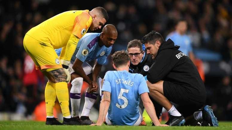 Man City defender Stones misses Zagreb trip. AFP