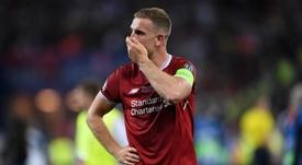 Henderson viu o Liverpool perder a final da Champions. Goal