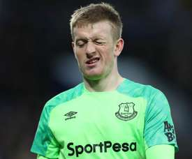 Jordan Pickford has insisted his form this season has mostly been strong. AFP