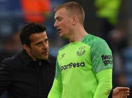 Silva is not happy with Pickford's actions. GOAL