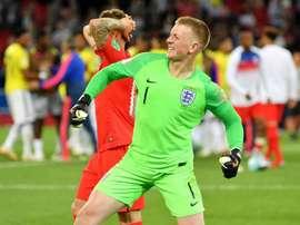 O goleiro da seleção inglesa, Jordan Pickford, foi um dos heróis da classificação. Goal