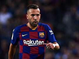 Stop per Jordi Alba: Barça-Inter a rischio. AFP