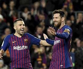 Jordi Alba fait l'éloge de son coéquipier argentin. Goal
