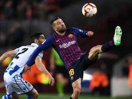 Man United win made Sociedad tough, says Barca's Jordi Alba.